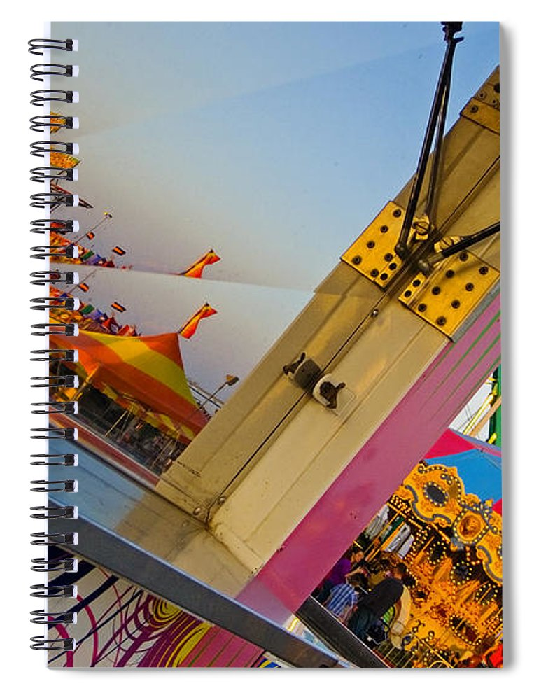 Carnival Spiral Notebook featuring the photograph Carnival 1 by Skip Hunt