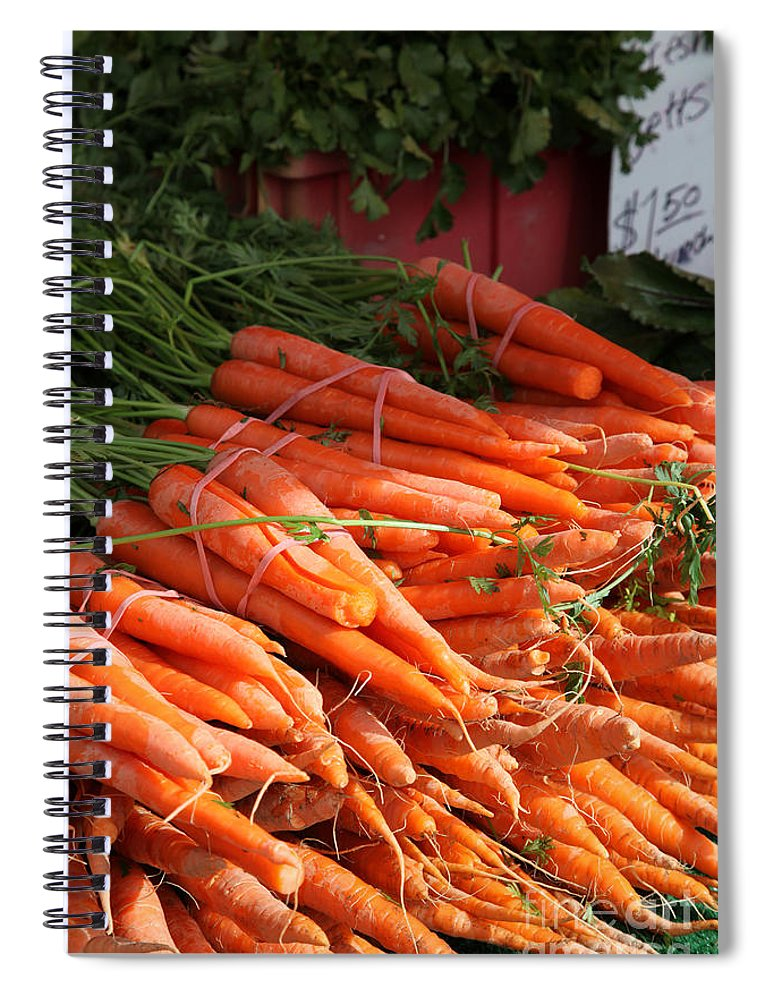 Stilllife Spiral Notebook featuring the photograph Carrot Bounty by Portraits By NC
