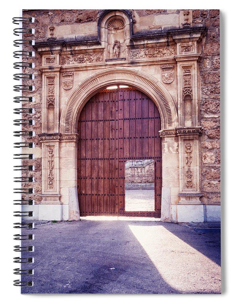Joan Carroll Spiral Notebook featuring the photograph Carthusian Monastery Granada by Joan Carroll