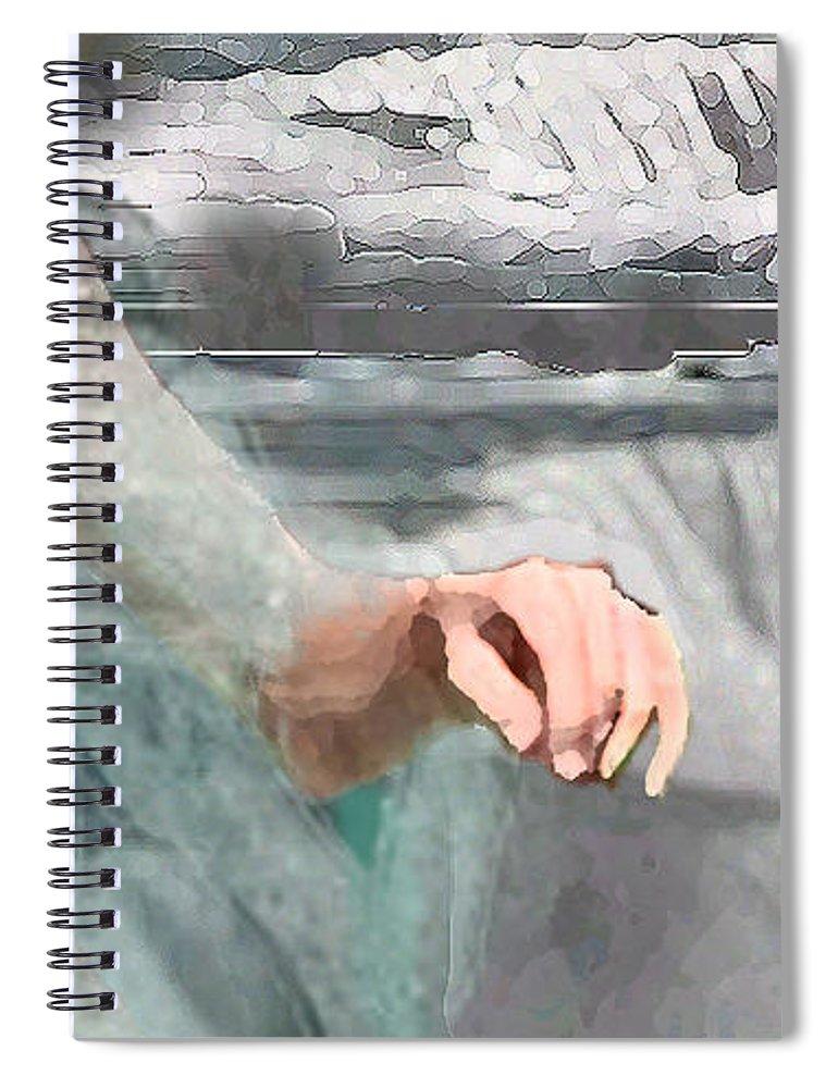 Waterscape Spiral Notebook featuring the digital art Cascade by Steve Karol