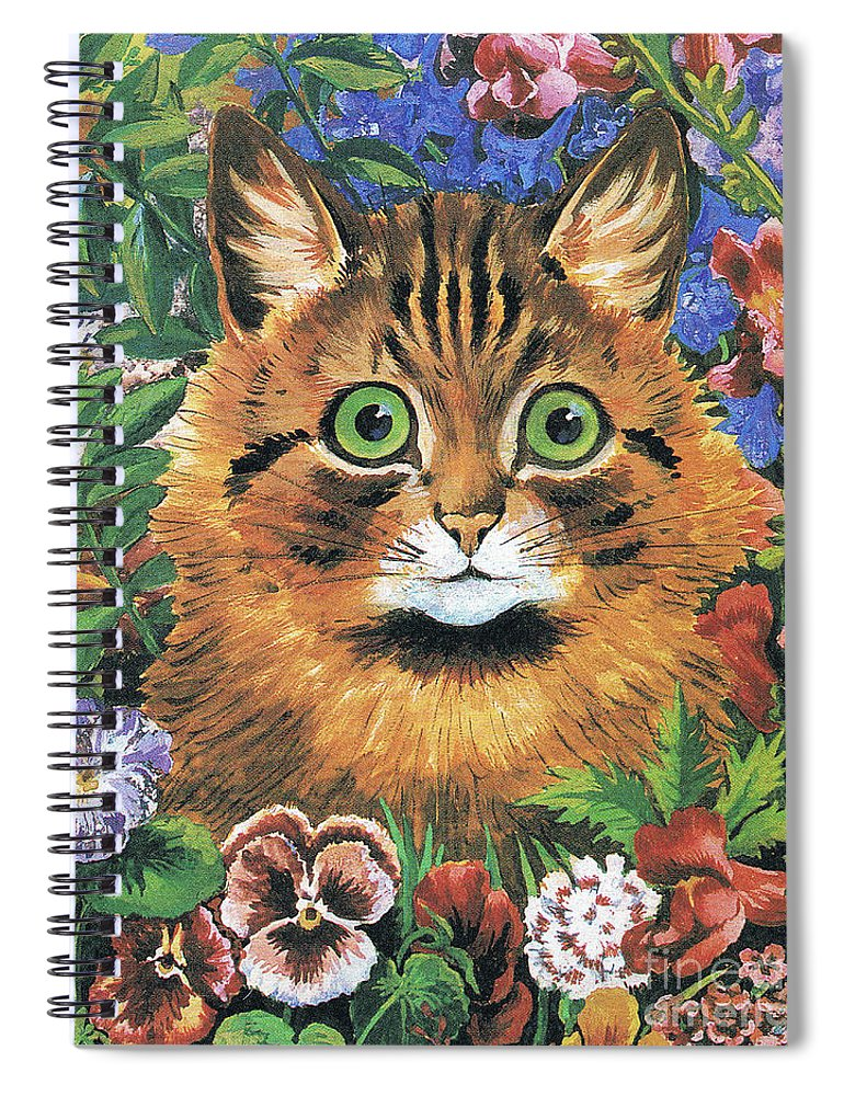 9e432db6753 Wain Spiral Notebook featuring the painting Cat Study by Louis Wain
