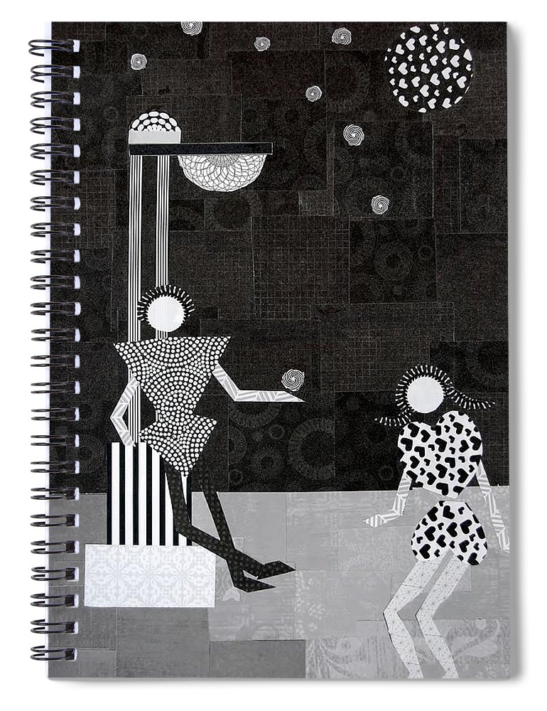 Stars Spiral Notebook featuring the mixed media Catch A Falling Star by Charla Van Vlack