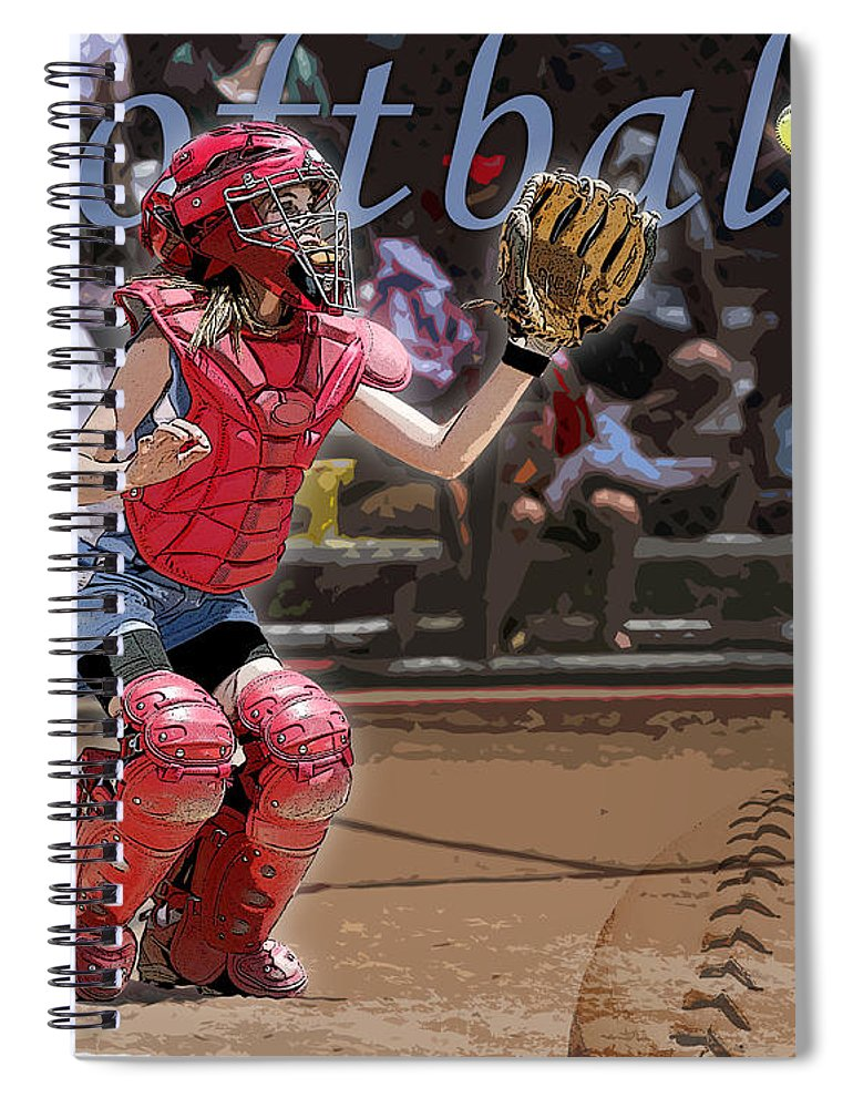 Softball Spiral Notebook featuring the photograph Catch It by Kelley King