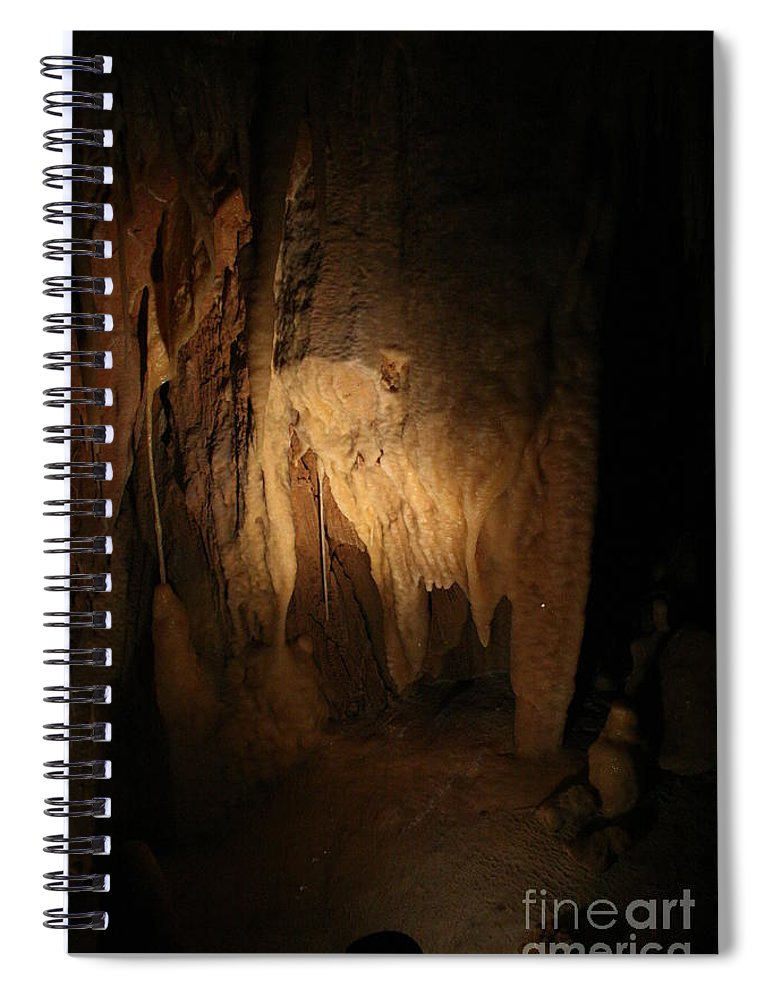 Natural Spiral Notebook featuring the photograph Cave 9 by Lynn Michelle