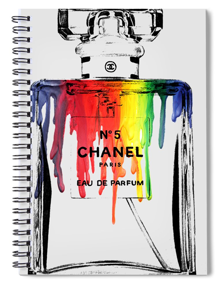 Bottle Spiral Notebook featuring the painting Chanel by Mark Ashkenazi