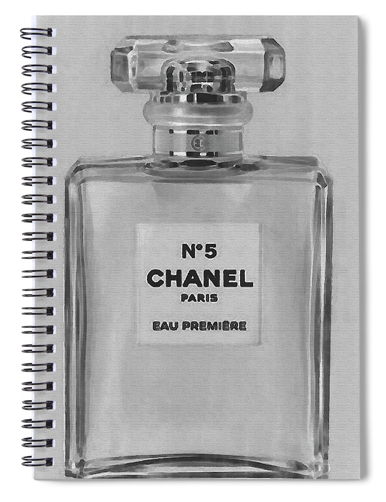 Chanel No 5 Eau De Parfum 3 Spiral Notebook For Sale By David Stasiak