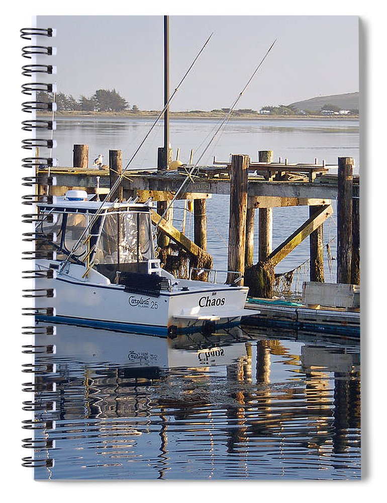 Boat Spiral Notebook featuring the photograph Chaos near Bodega Bay by Suzanne Gaff