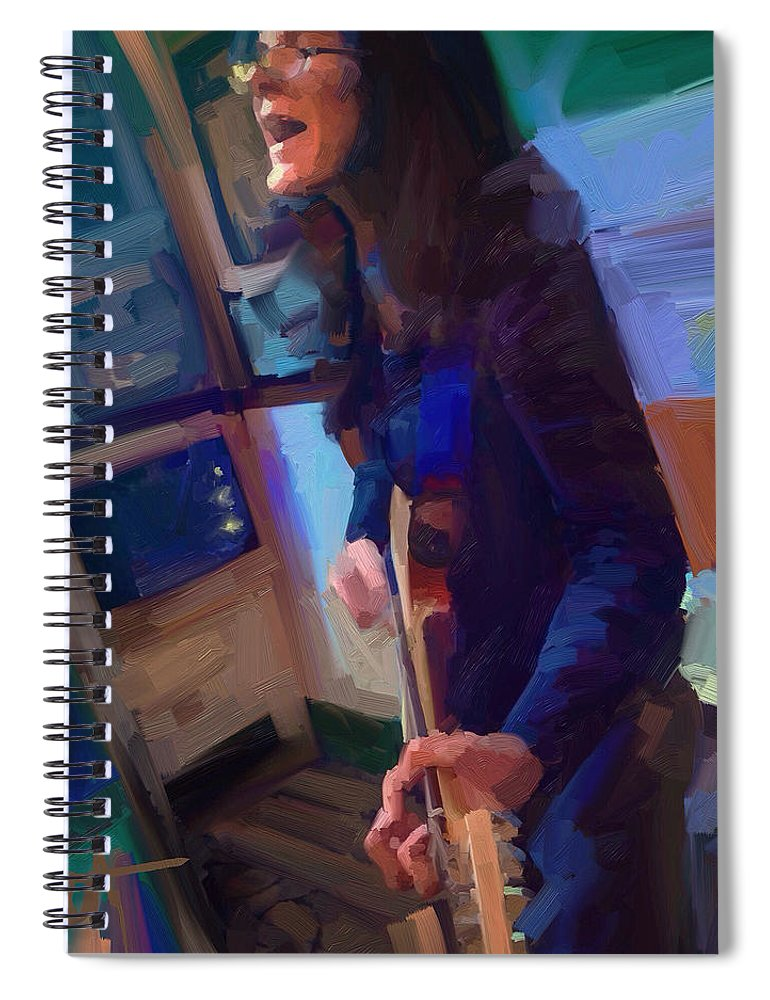 Chelsea Saddler Music Musician St. Augustine Painting Portrait Guitar Spiral Notebook featuring the digital art Chelsea by Scott Waters