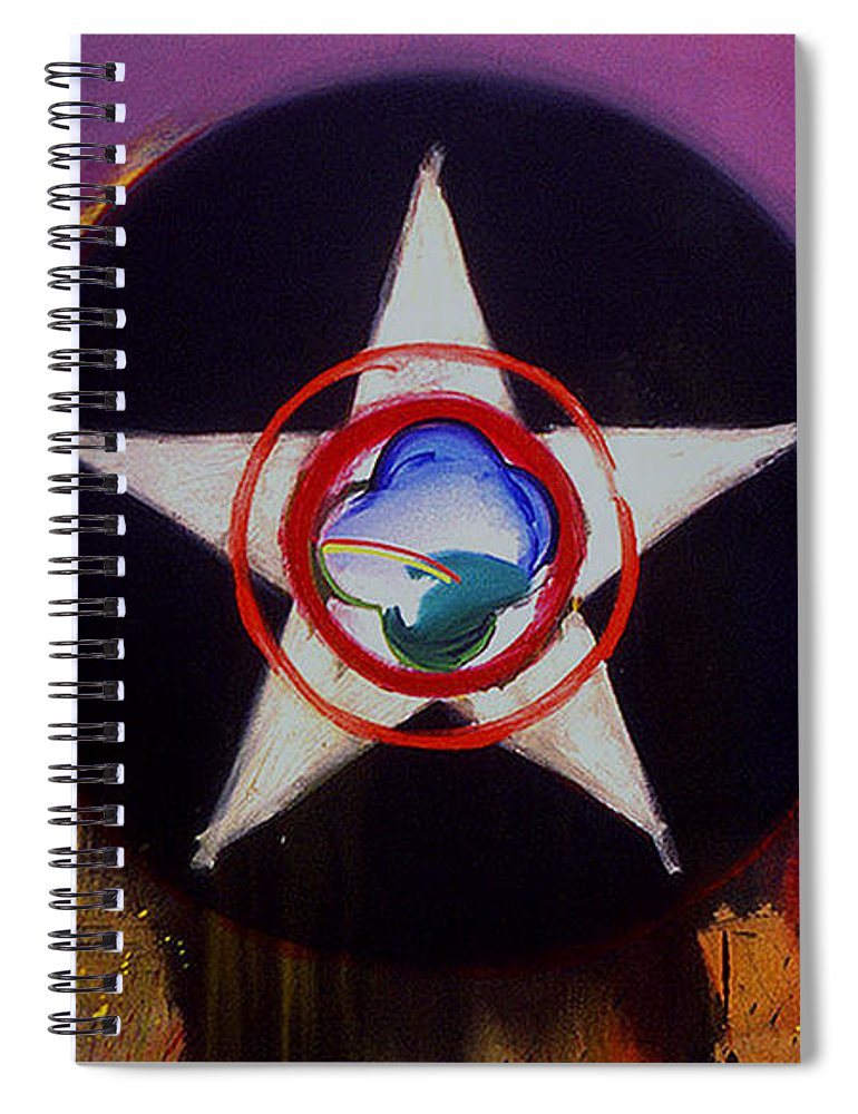 Air Force Insignia Spiral Notebook featuring the painting Cheyenne Autumn by Charles Stuart