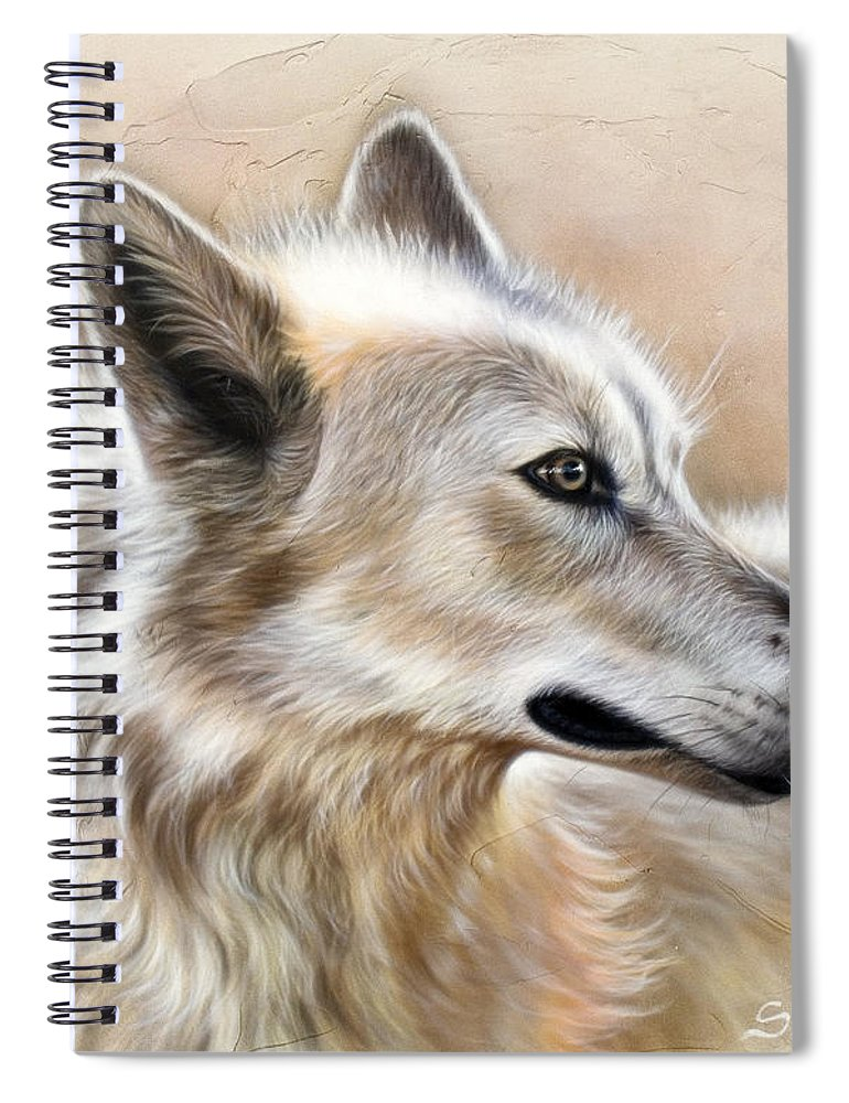 Acrylic Spiral Notebook featuring the painting Cheyenne by Sandi Baker
