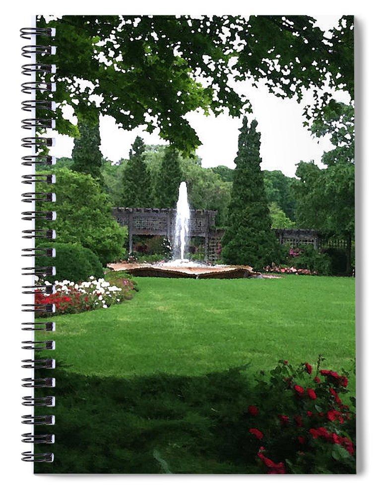 Landscape Spiral Notebook featuring the photograph Chicago Botanical Gardens Landscape by Steve Karol