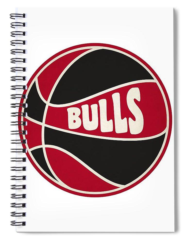 Bulls Spiral Notebook featuring the photograph Chicago Bulls Retro Shirt by Joe Hamilton