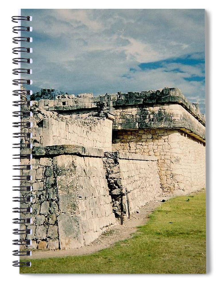 Chitchen Itza Spiral Notebook featuring the photograph Chichen Itza 1 by Anita Burgermeister