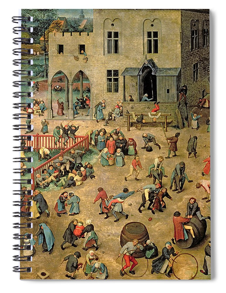 Xir68945 Spiral Notebook featuring the painting Children's Games by Pieter the Elder Bruegel