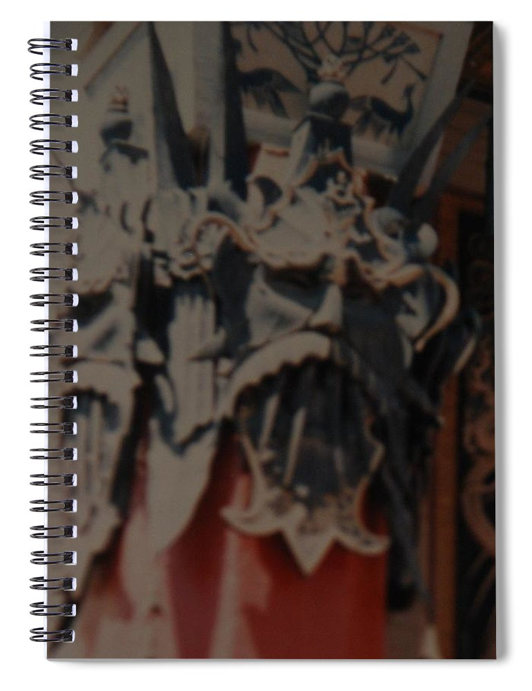 Grumanns Chinese Theater Spiral Notebook featuring the photograph Chinese Masks by Rob Hans