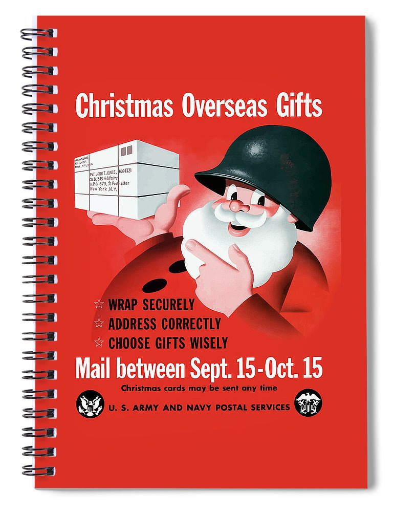 Ww2 Christmas Gifts.Christmas Overseas Gifts Ww2 Spiral Notebook