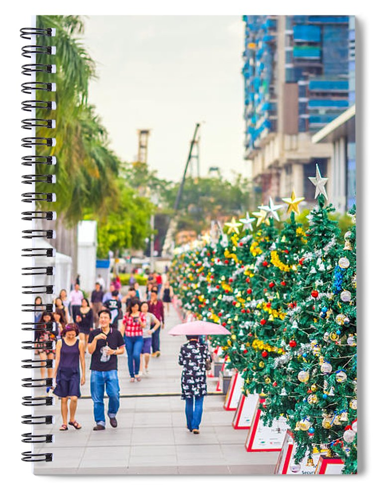 Christmas Spiral Notebook featuring the photograph Christmas Trees by Jijo George