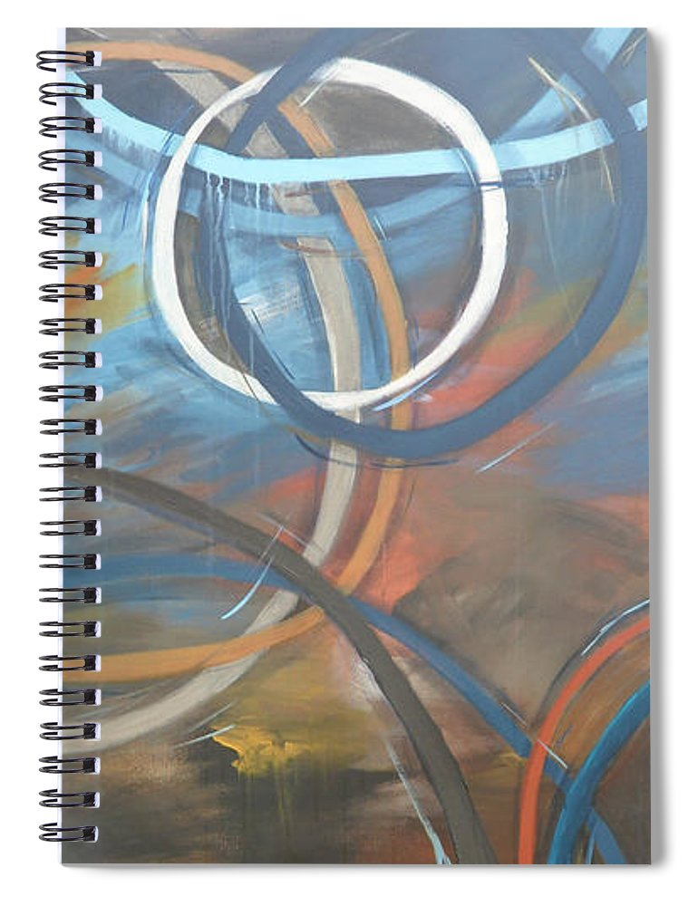 Circles Spiral Notebook featuring the painting Circles by Travis Day