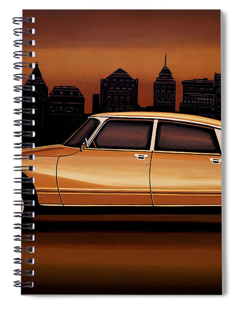 Citroen Ds Spiral Notebook featuring the painting Citroen Ds 1955 Painting by Paul Meijering