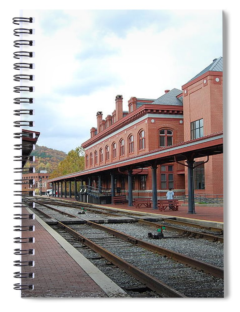 Historic Spiral Notebook featuring the photograph Cumberland City station by Eric Liller