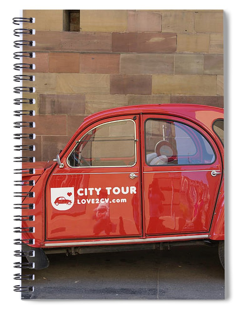 Alsace Spiral Notebook featuring the photograph City Tour Car Strasbourg France by Teresa Mucha