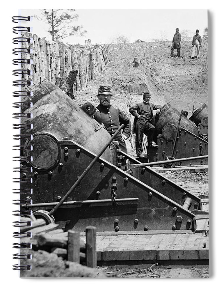 1862 Spiral Notebook featuring the photograph Civil War: Union Mortars by Granger