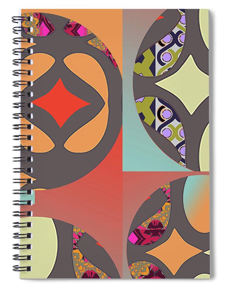 Digital Art Spiral Notebook featuring the digital art Claire by Ceil Diskin
