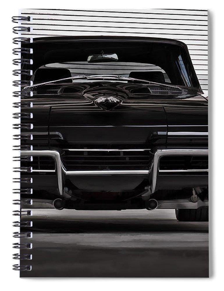 Corvette Spiral Notebook featuring the digital art Classic Black by Douglas Pittman
