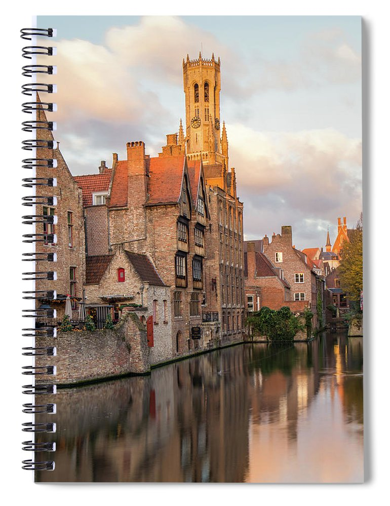 Rozenhoedkaai Spiral Notebook featuring the photograph Classic Bruges by Dalibor Hanzal