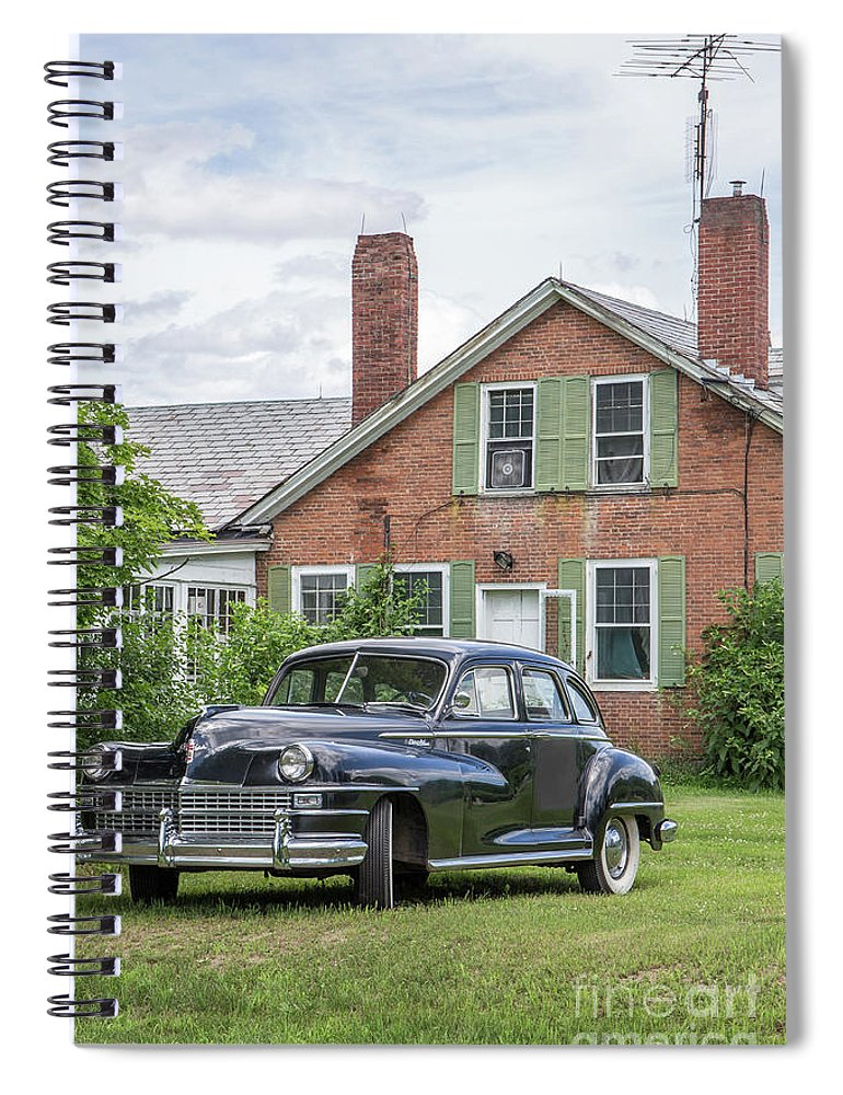 Car Spiral Notebook featuring the photograph Classic Chrysler 1940s Sedan by Edward Fielding