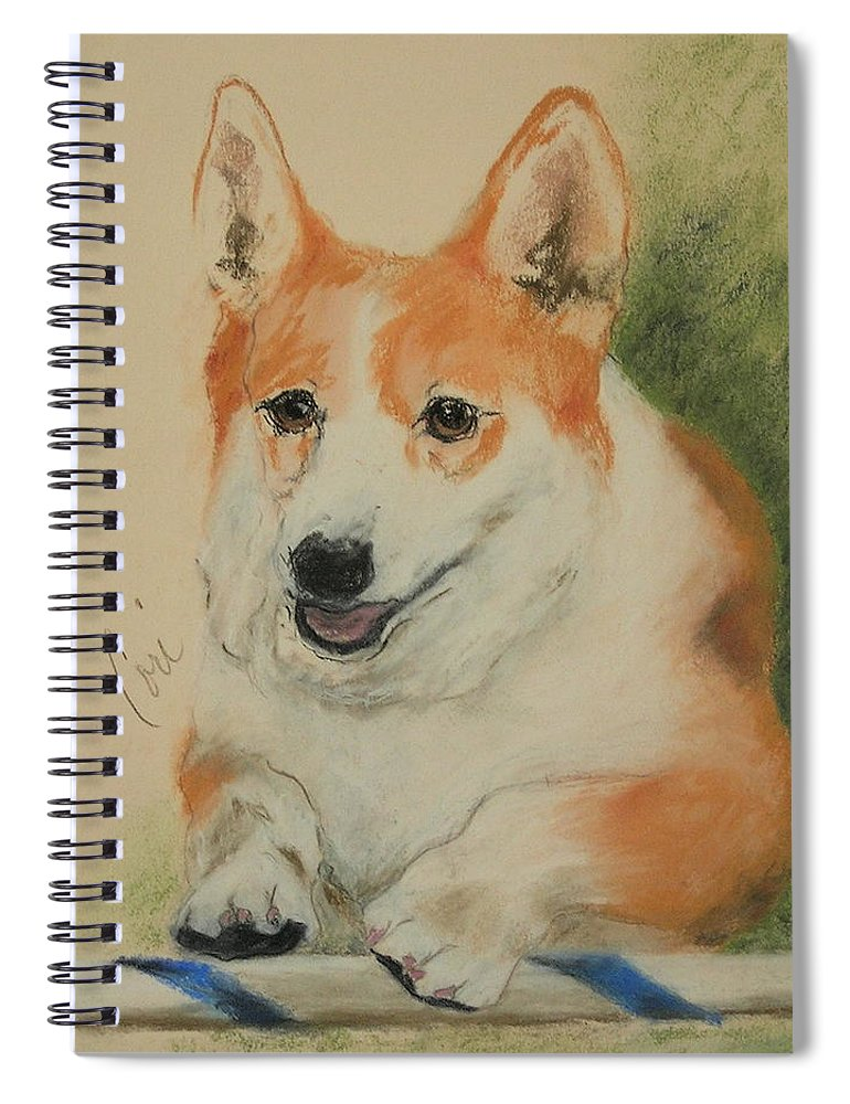 Pastel Spiral Notebook featuring the drawing Clear Run by Cori Solomon