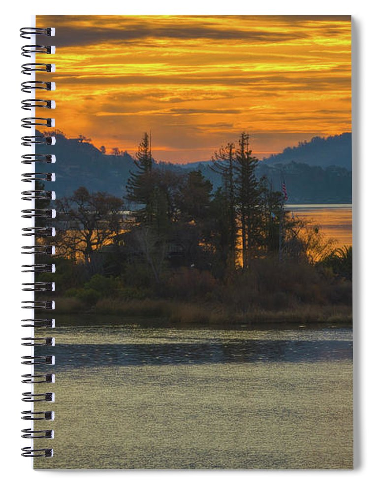 Clearlake Gold Spiral Notebook featuring the photograph Clearlake Gold by Mitch Shindelbower