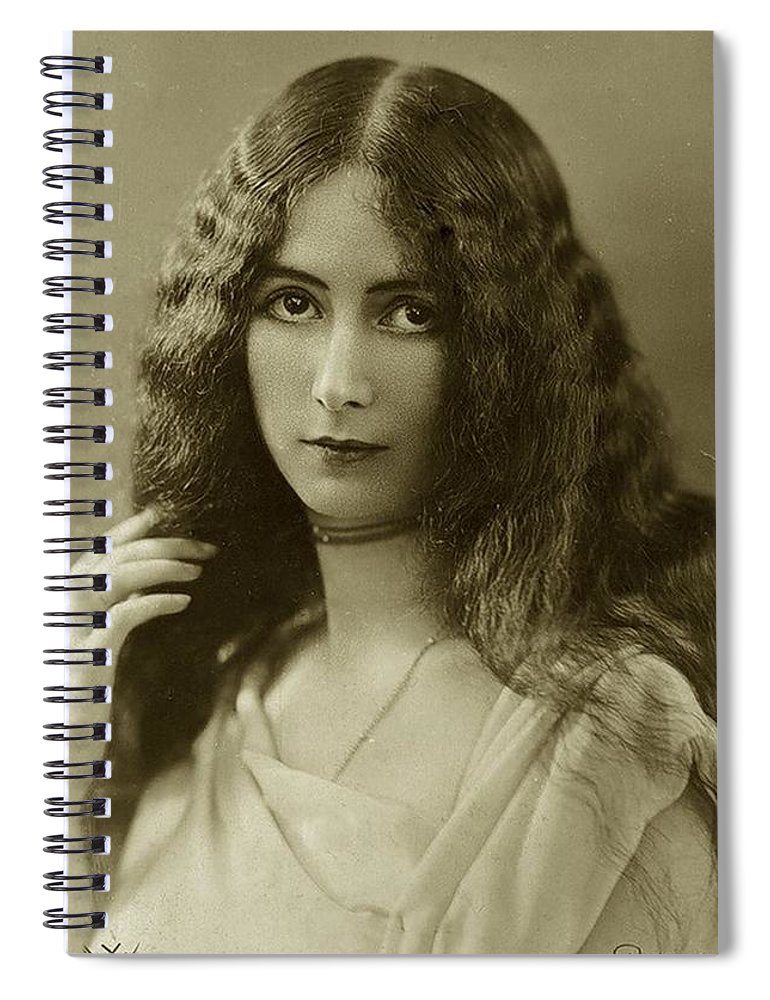 Cleo Spiral Notebook featuring the photograph Cleo De Merode by Unknown