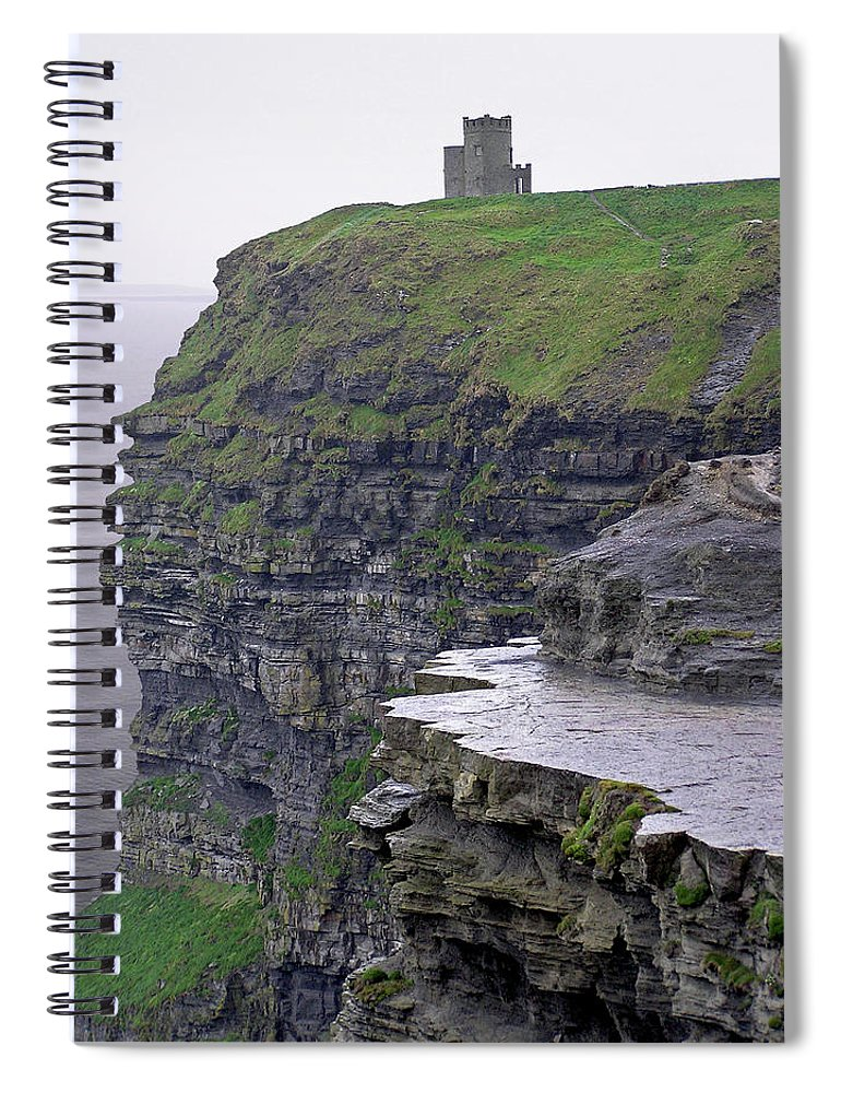 Cliff Spiral Notebook featuring the photograph Cliffs Of Moher Ireland by Charles Harden