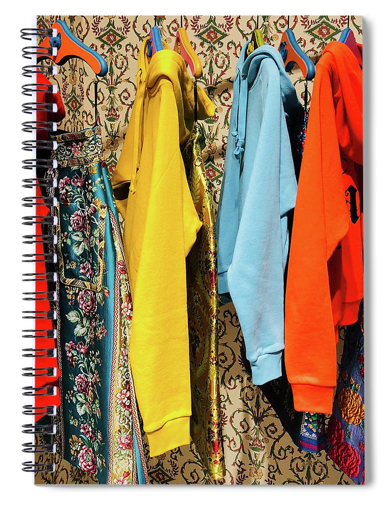 Bright Colors Spiral Notebook featuring the photograph Clothes Rack by Ceil Diskin