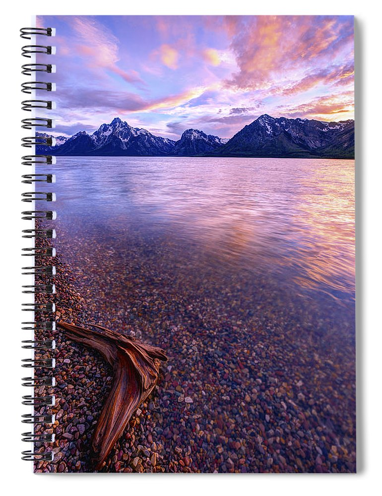 Clouds And Wind Spiral Notebook featuring the photograph Clouds And Wind by Chad Dutson