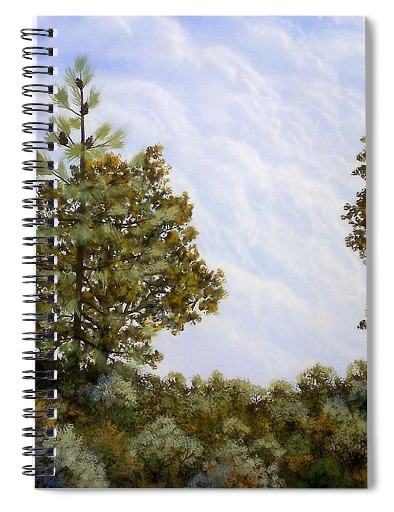 Landscape Spiral Notebook featuring the painting Clouds In Foothills by Frank Wilson