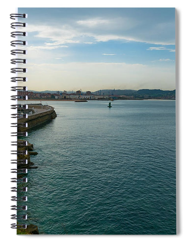 Spain Spiral Notebook featuring the photograph Coastline Of The Bay by Ric Schafer