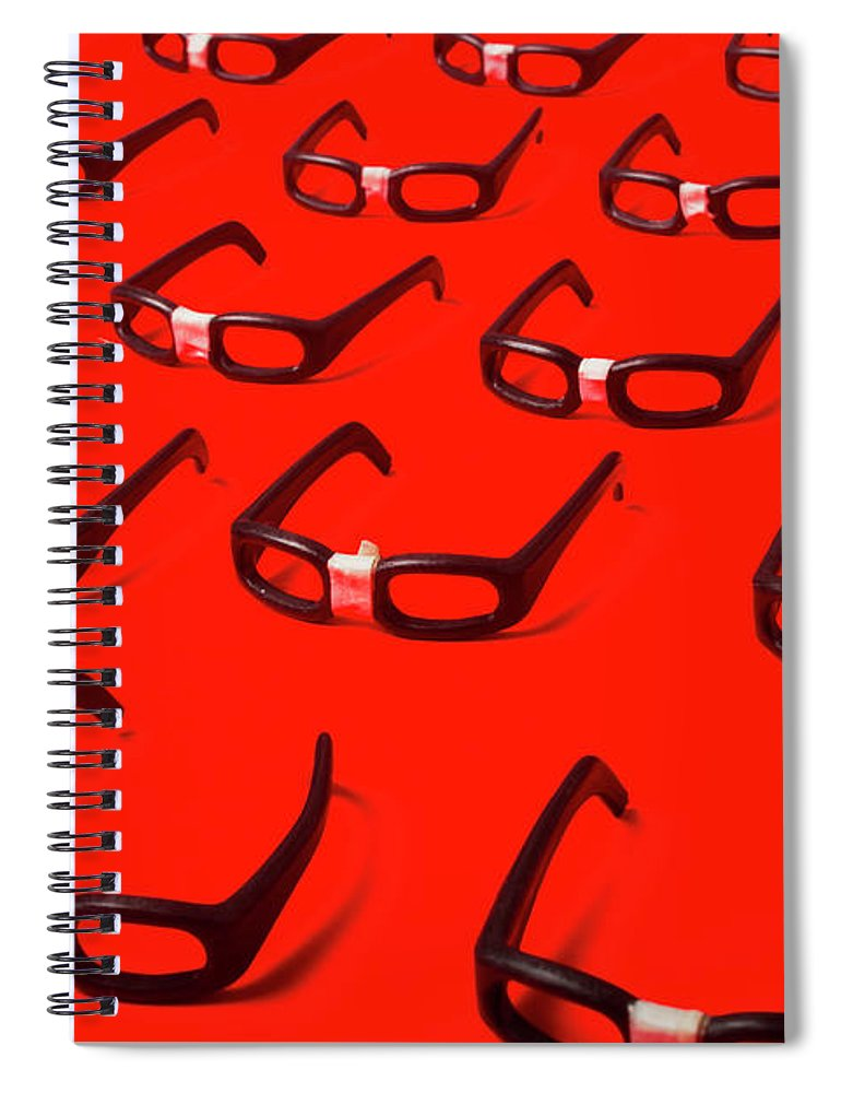 Glasses Spiral Notebook featuring the photograph Code Red Developers by Jorgo Photography - Wall Art Gallery