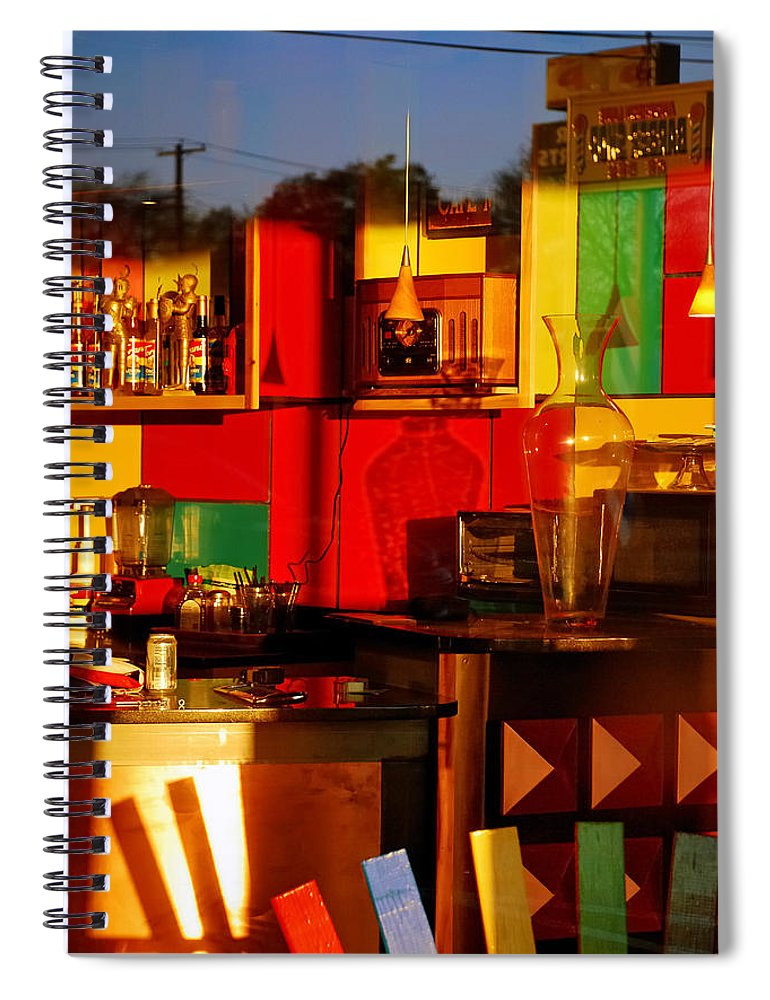 Skip Hunt Spiral Notebook featuring the photograph Coffee Shop by Skip Hunt