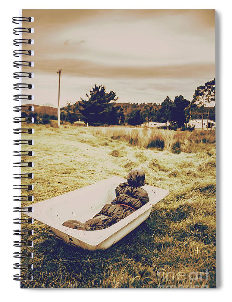Crime Scene Spiral Notebook featuring the photograph Cold Case Of Retro Crime by Jorgo Photography - Wall Art Gallery