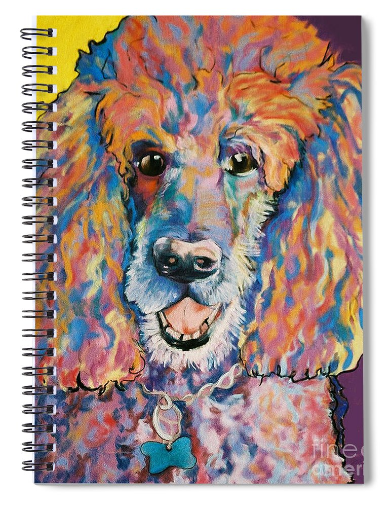 Standard Poodle Spiral Notebook featuring the painting Cole by Pat Saunders-White