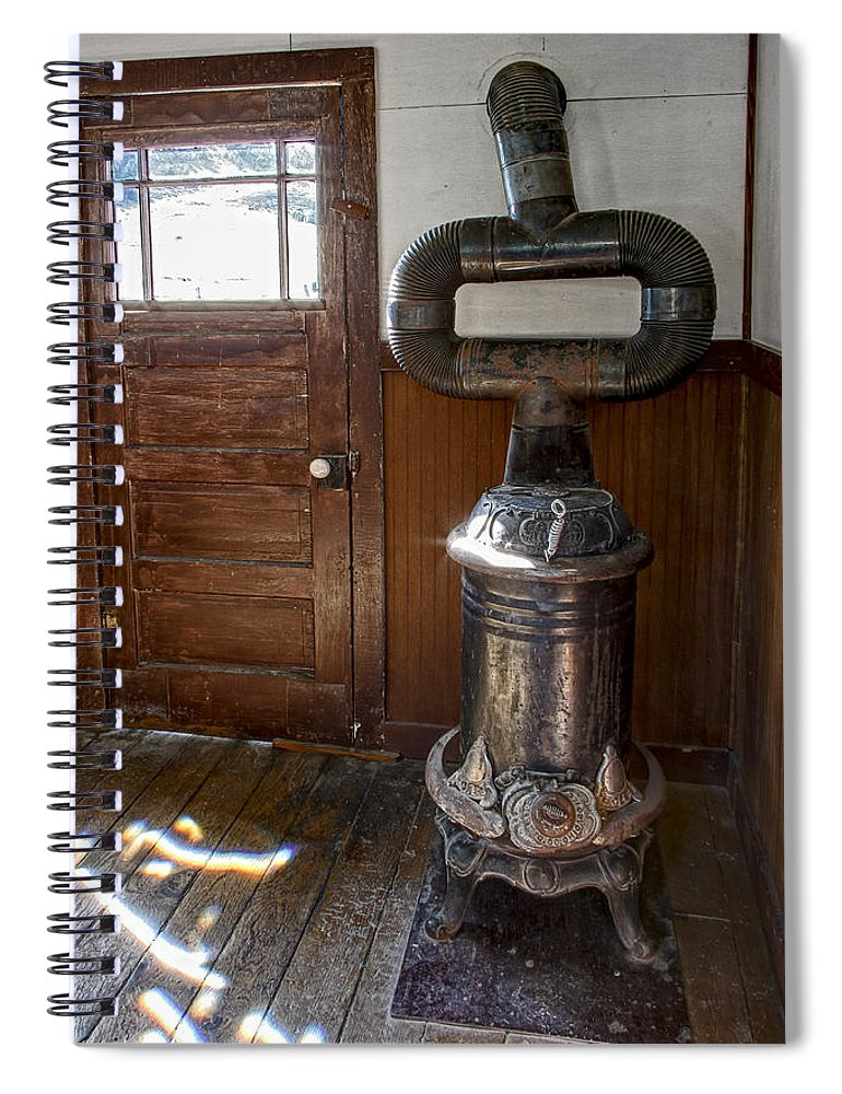 Coles Hot Blast Stove Molson Ghost Town Spiral Notebook For Sale By Daniel Hagerman