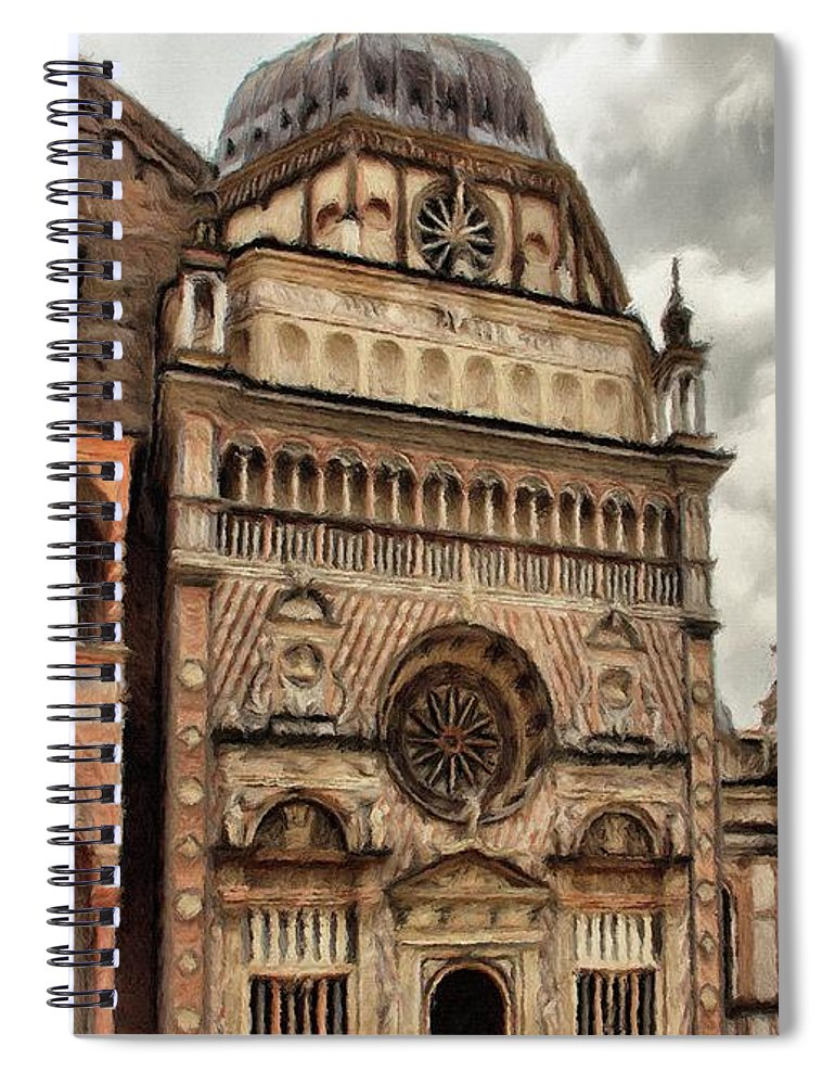 Chapel Spiral Notebook featuring the painting Colleoni Chapel by Jeffrey Kolker