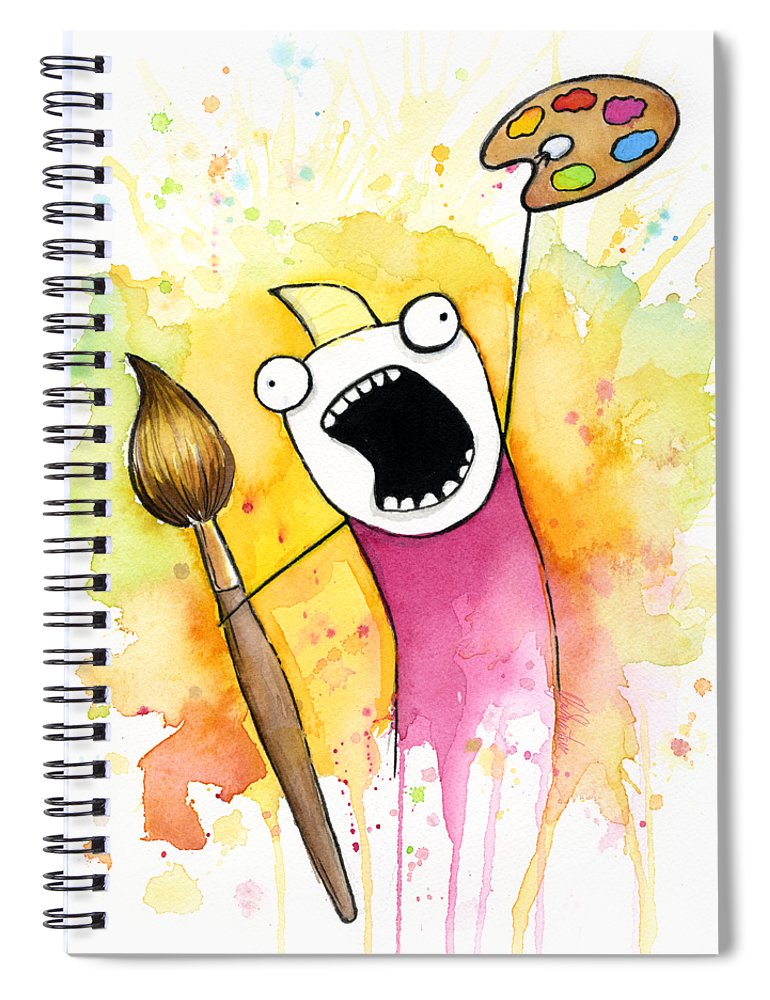 All The Things Spiral Notebook featuring the painting Color ALL the Water by Olga Shvartsur