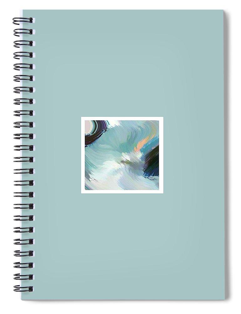 Landscape Digital Art Spiral Notebook featuring the digital art Color Falls by Anil Nene