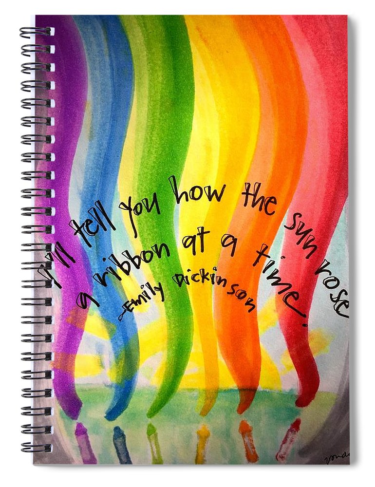 Rainbow Spiral Notebook featuring the painting Color the Sky by Vonda Drees