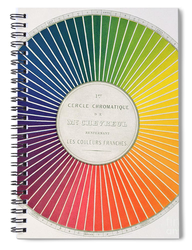 Color Wheel Spiral Notebook For Sale By French School