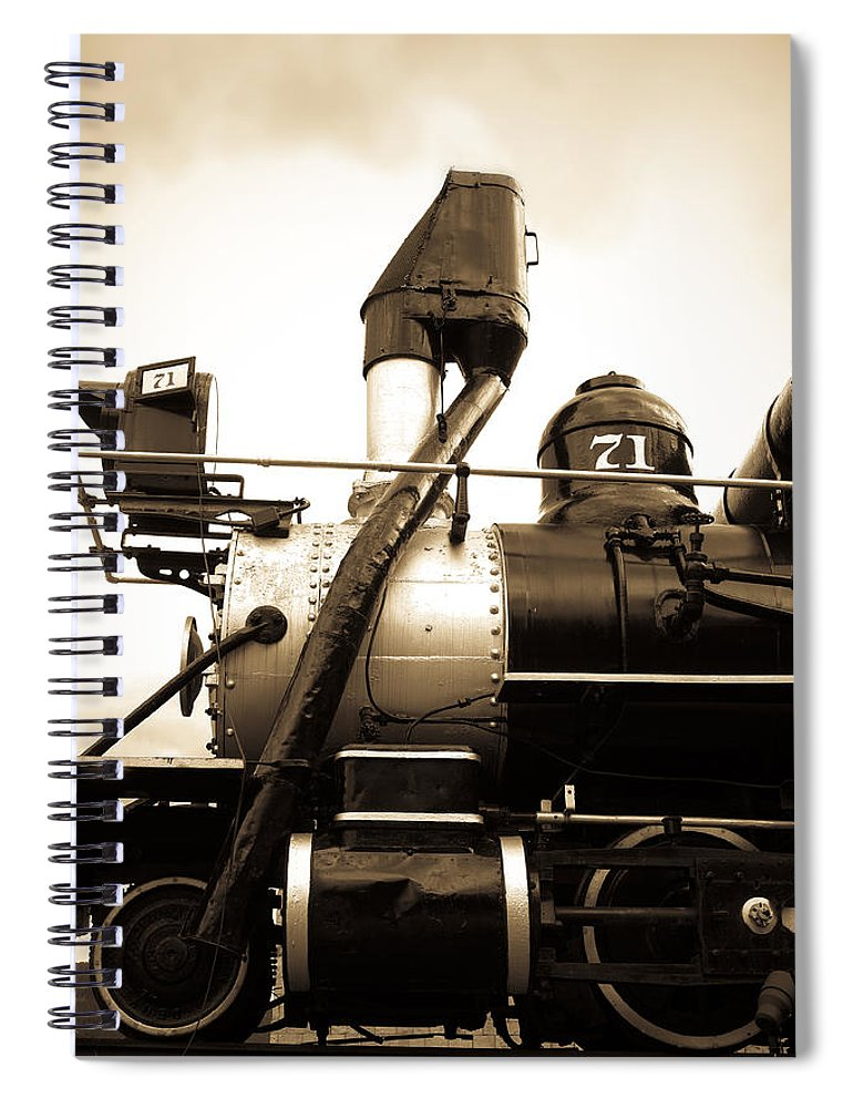 Central City Spiral Notebook featuring the photograph Colorado Southern Railroad 3 by Marilyn Hunt