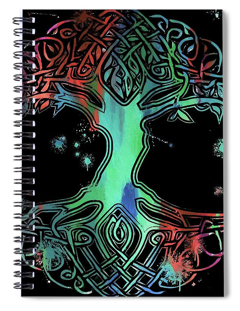 Colorful Celtic Tree Of Life Spiral Notebook For Sale By Dan Sproul